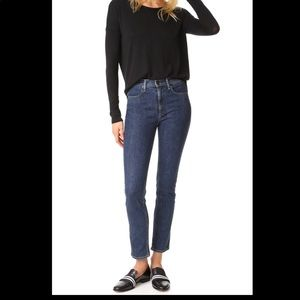Rag & Bone • cigarette jeans in dark paz
